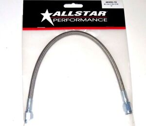 Braided Stainless Steel Brake Line Hose 12 3 An Straight End 12 Inch Length