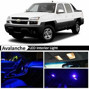 Blue Led Lights Interior Package Kit 2002 2006 Chevy Avalanche