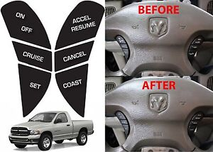 Replacement Steering Wheel Button Stickers For 2002 2005 Dodge Ram New Free Ship