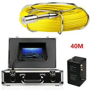 40m Sewer Waterproof Camera Pipe Pipeline Drain Inspection System 7 lcd Dvr