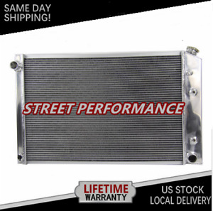 3row Aluminum Radiator For Chevy Pickup Trucks 73 87 Truck 21 X 33 81 91 Us