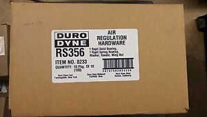 Duro Dyne 8233 Rs356 Air Regulation Hardware 1 Box Of 100
