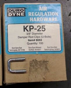 Duro Dyne 8053 Kp25 3 8 Diameter Rod Clips U bolts New Case Of 10 Boxes