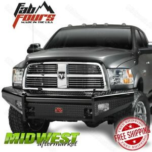 Fab Fours Black Steel Base Front Bumper Fits 2006 2009 Dodge Ram 2500 3500