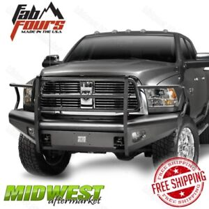 Fab Fours Black Steel Elite Full Guard Bumper Fits 2006 2009 Dodge Ram 2500 3500