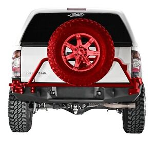 Fab Fours Direct Fit Black Premium Rear Bumper Fits 2005 2015 Toyota Tacoma