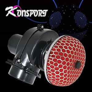 Red Mushroom Air Intake Filter 3 Inch Electric Supercharger Gas Fuel Mpg Saver