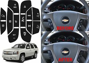 Replacement Steering Wheel Button Stickers For 2007 2014 Tahoe Suburban Yukon