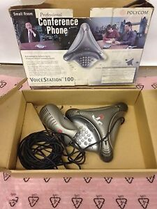 Polycom Voicestation 100 Conference Phone Complete W Box