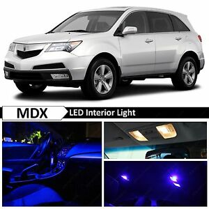 Acura Mdx Blue Interior License Plate Led Lights Package Kit