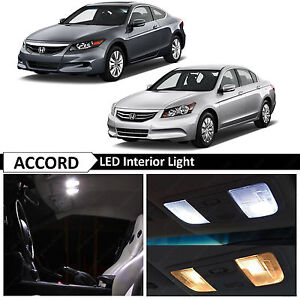 14x White Interior License Plate Led Lights Bulbs Fits Honda Accord 2003 2012
