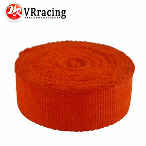 Racing Exhaust Header Turbo Manifold Downpipe Heat Wrap 2 10 Meter Orange