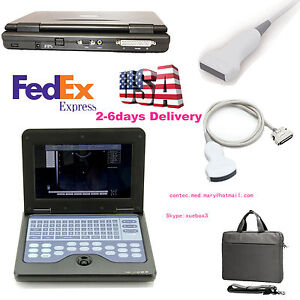 Ce Us Digital Portable Ultrasound scanner machine convex linear Two Probes