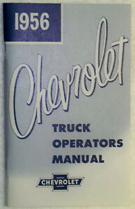56 1956 Chevy Chevrolet Truck Owners Manual Glove Box