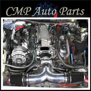 Black Dual Air Intake Kit Fit 1994 1996 Chevy Impala Ss Caprice 4 3l 5 7l V8