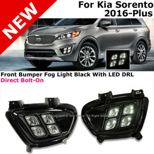 Fog Light Led 4 Eyes Black For 16 18 Kia Sorento W Harness Direct Replacement