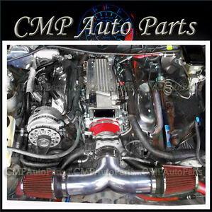 Red Dual Air Intake Kit Fit For 1994 1996 Chevy Impala Ss Caprice 43l 57l V8