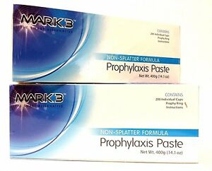 2x Bulk Mark3 Prophy Paste Non spaltter Coarse Assorted Total Of 400cups