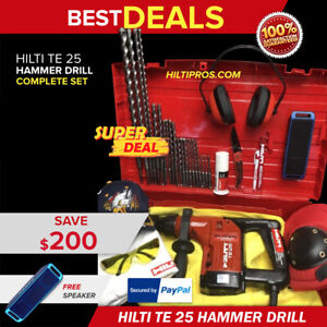 Hilti Te 25 Hammer Drill Preowned Free Bluetooth Speaker Bits Quick Ship