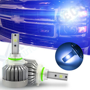 9006 Hb4 9012 Blue 8000k Cob Led Headlight Conversion Kit For High Low Beam Drl