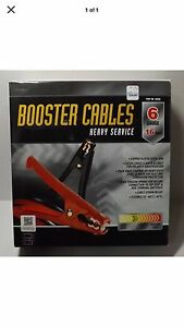 Booster Jump Cables Heavy Service 6 Guage 16ft 04850 New
