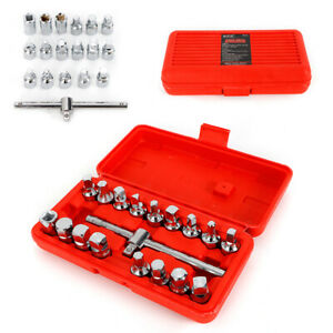 Oil Drain Pipe Plug Socket Set Removal Tool Set Axle Oil Sump Spanner 3 8 Drive