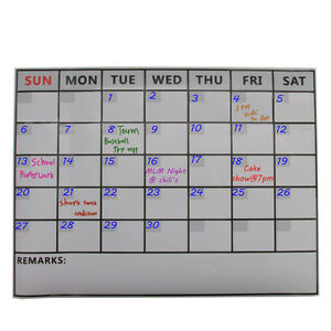 Ms095 Magnetic Refrigerator Dry Erase Calendar Monthly Planner Message Board