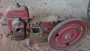 Hit Miss Engine Dempster Water Pump With Pulley Pully Plunger Piston Mill