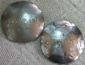 Hudson Terraplane 8 1 4 Inch Dog Dish Hubcaps 6 3 4 To Inner Bead Lot Of 2
