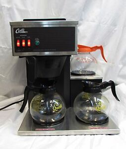 Wilbur Curtis Cafe 3db10a 12 Cup Coffee Brewer With 1 Upper And 2 Lower Warmers