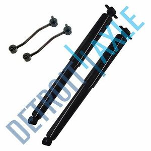 New 2 Rear Driver And Passenger Shock Absorbers With Rear Sway Bar End Links