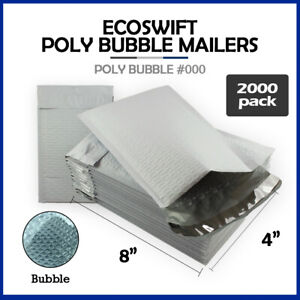 2000 000 4x8 ecoswift Brand Poly Bubble Mailers Small Padded Envelope 4 X 8
