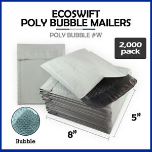 2000 000 5x8 ecoswift Brand Poly Bubble Padded Envelopes X wide 000 Mailers