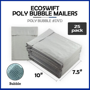 25 0 7 5x10 ecoswift Brand Poly Bubble Mailers Padded Envelope Dvd 7 5 X 10