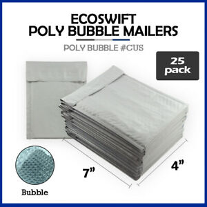 25 0000 4x7 ecoswift Brand Poly Bubble Mailers Small Padded Envelope 4 X 7