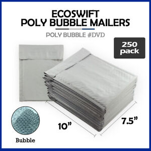 250 0 7 5x10 ecoswift Brand Poly Bubble Mailers Padded Envelope Dvd 7 5 X 10
