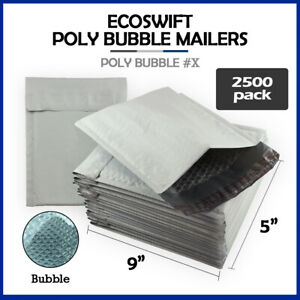 2500 000 4x8 ecoswift Brand Poly Bubble Mailers Small Padded Envelope 4 X 8
