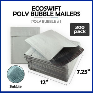 300 1 7 25x12 ecoswift Brand Poly Bubble Mailers Padded Envelope 7 25 X 12