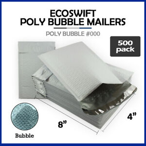 500 000 4x8 ecoswift Brand Poly Bubble Mailers Small Padded Envelope 4 X 8