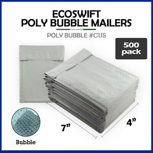 500 0000 4x7 ecoswift Brand Poly Bubble Mailers Small Padded Envelope 4 X 7