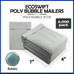 6000 0000 4x7 ecoswift Brand Poly Bubble Mailers Small Padded Envelope 4 X 7