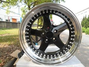Four 18 Staggered Black Drift Style Rims Fit Lexus Gs Gs350 Gs430 Is300 Is250