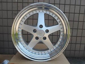 18 Silver Lip Drift Style Rims Fit Bmw 3 Series 5x120 18 Inches