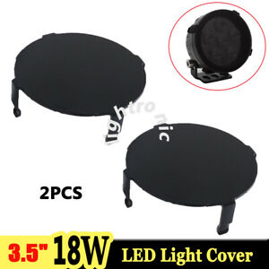 2x Snap On Black Lens Cover For 3 5inch 18w Round Led Work Light Offroad Atv Suv