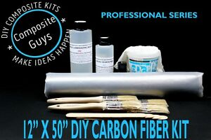 Real Carbon Fiber Fabric 12 X 36 Skinning Wrapping Laminating Kit Twill 2x2 3k