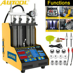Autool Ct150 Ultrasonic Petrol Fuel System Injector Cleaner Tester Car Motor Usa