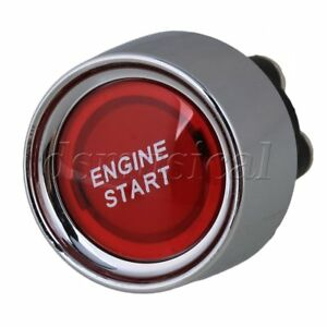 Universal Dc12v 24v 50a Car Engine Ignition Start Push Button Switch Red