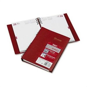 Coilpro Daily Planner Ruled 1 Day page 5 3 4 X 8 1 4 Red 2014 3 Pack