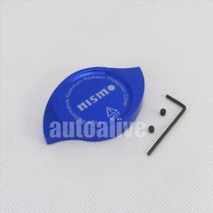 Cnc Nismo Anodized Billet Aluminum Blue Radiator Cap Cover For Nissan