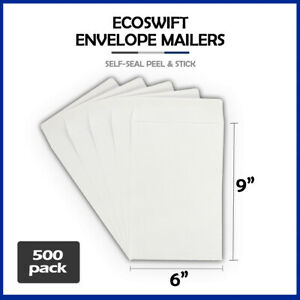 500 6x9 ecoswift Brand Self seal Catalog Mailing Shipping Kraft Paper Envelope